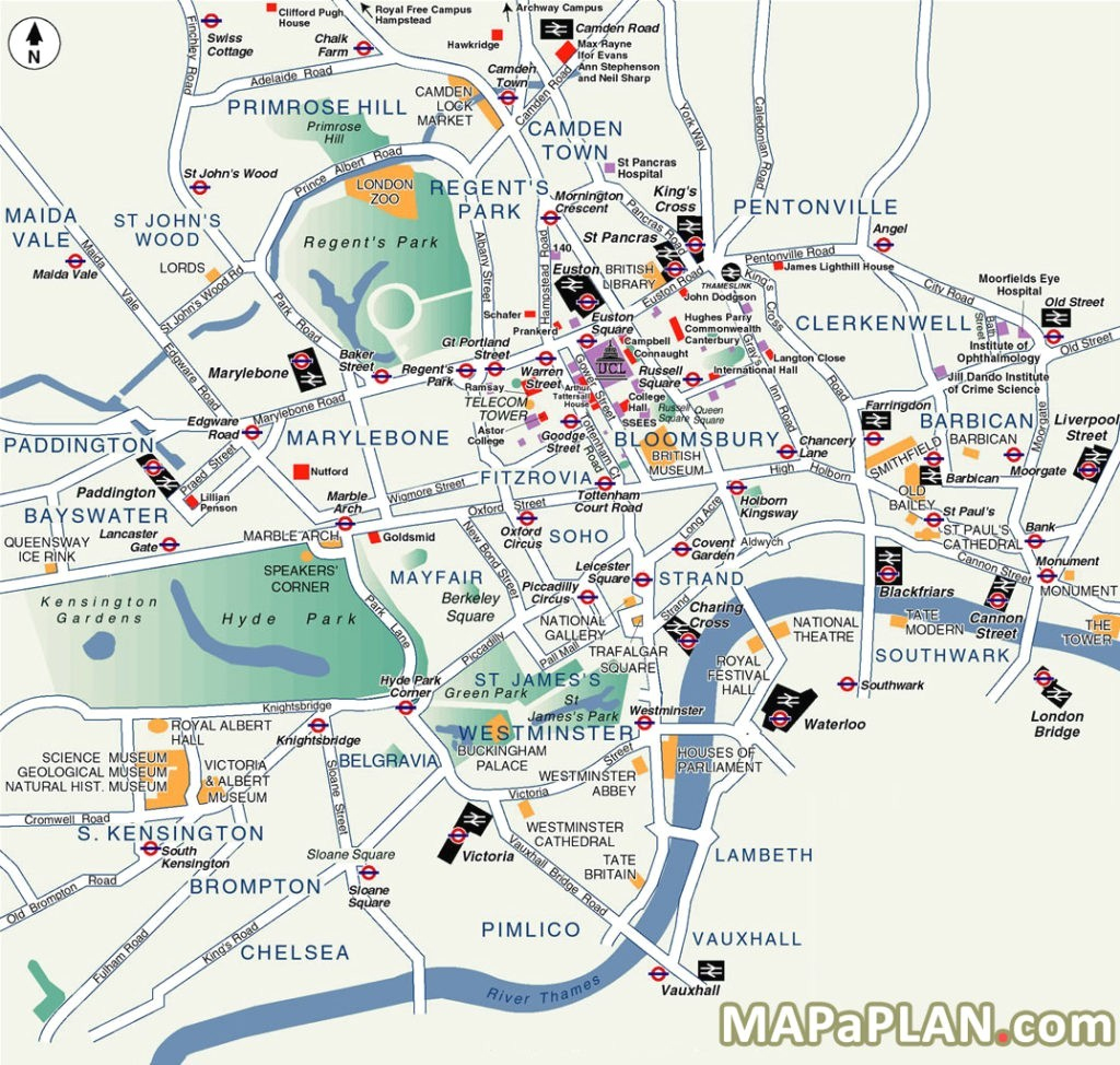 London Map Tourist Attractions Printable | Globalsupportinitiative in Map Of London Attractions Printable