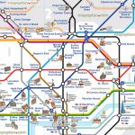 London Map Tube With Attractions Underground Throughout Places Of For Printable London Tube Map Pdf