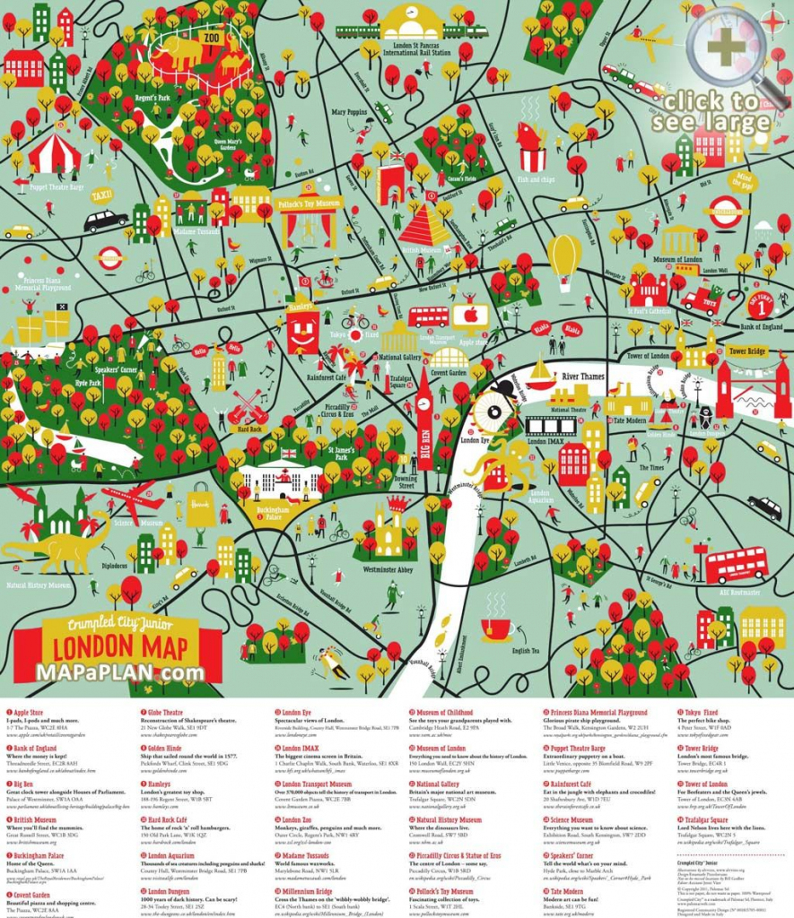 London Maps - Top Tourist Attractions - Free, Printable City Maps with Printable Travel Maps For Kids
