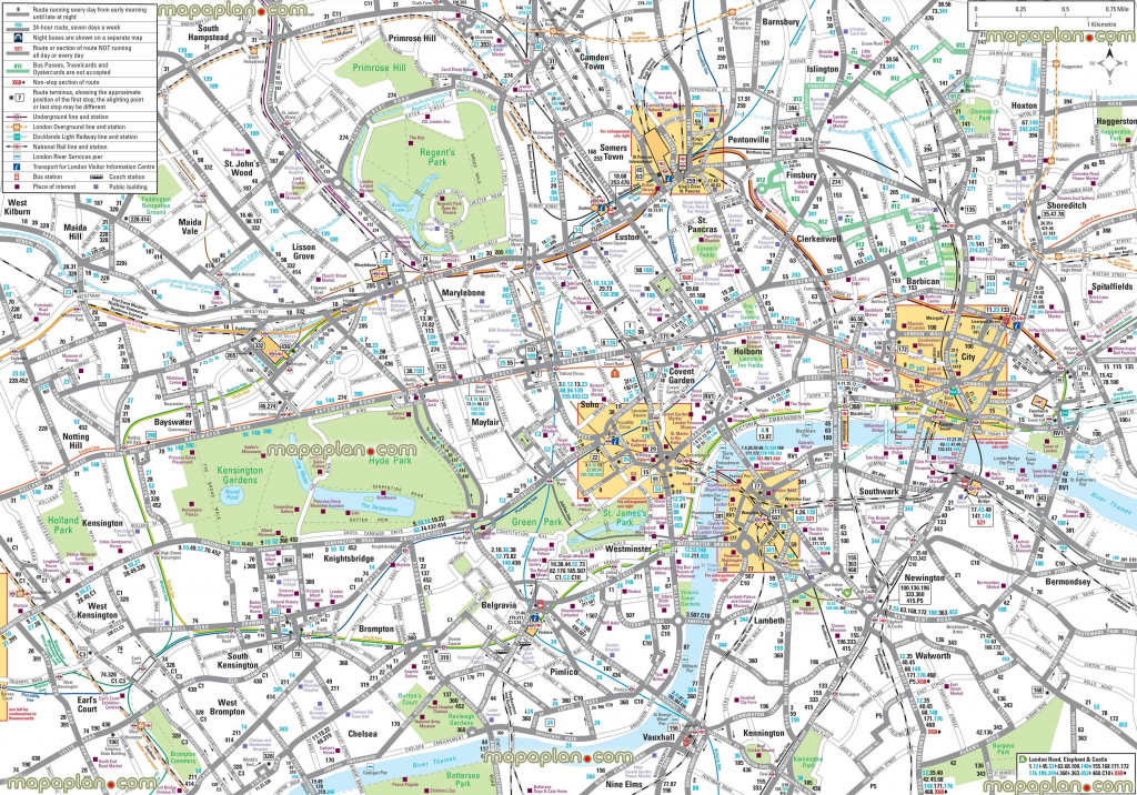 London Maps – Top Tourist Attractions – Free, Printable City Street in Free Printable City Street Maps
