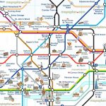 London Tourist Map Printable Tube Attractions Underground Stations With Printable London Underground Map