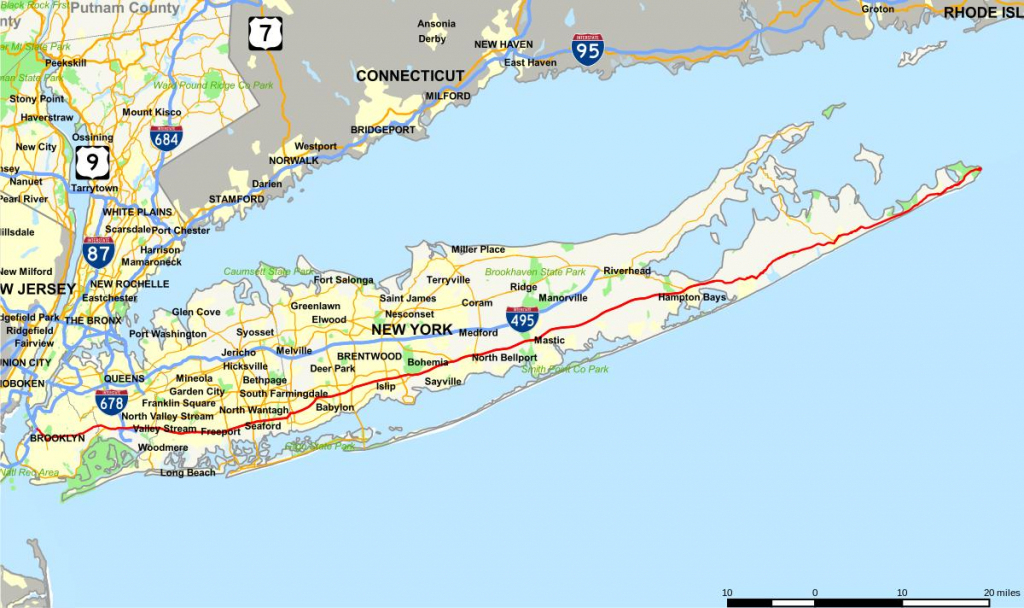Long Island Highway Map - Sunrise Highway Long Island Map (New York within Printable Map Of Long Island