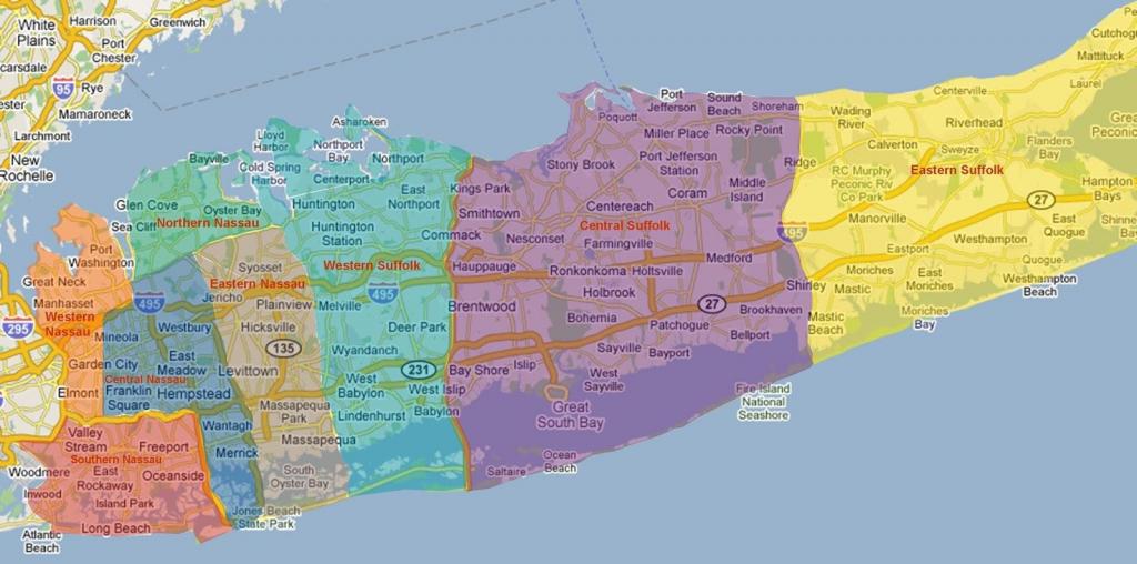 Long Island Neighborhoods Map - Map Of Long Island Neighborhoods in Printable Map Of Long Island Ny