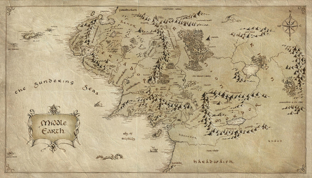 Lord Of The Rings Map   Tattoos   The Hobbit Map, Middle Earth Map regarding Printable Lord Of The Rings Map