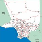 Los Angeles County Highway Map California Mappery With Of Freeways Intended For Los Angeles Freeway Map Printable
