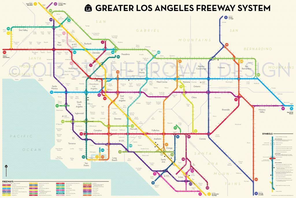 Los Angeles Freeways California State Map Southern California throughout Los Angeles Freeway Map Printable