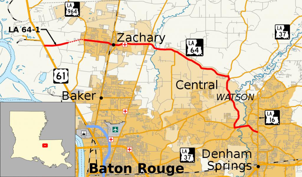 Louisiana Highway 64 - Wikipedia regarding Printable Map Of Baton Rouge