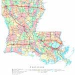 Louisiana Printable Map Inside Louisiana State Map Printable