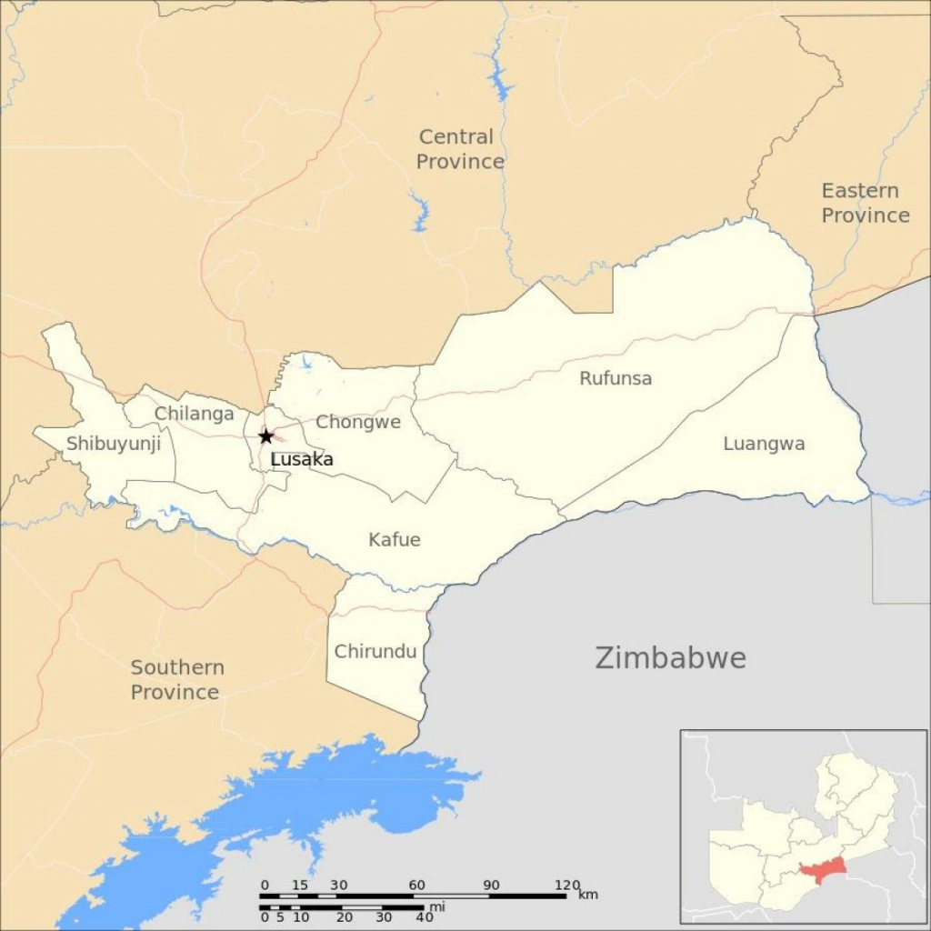 Lusaka Zambia Map - Map Of Lusaka Zambia (Eastern Africa - Africa) pertaining to Printable Map Of Lusaka