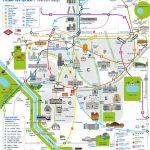 Madrid Attractions Map Pdf   Free Printable Tourist Map Madrid For Madrid City Map Printable