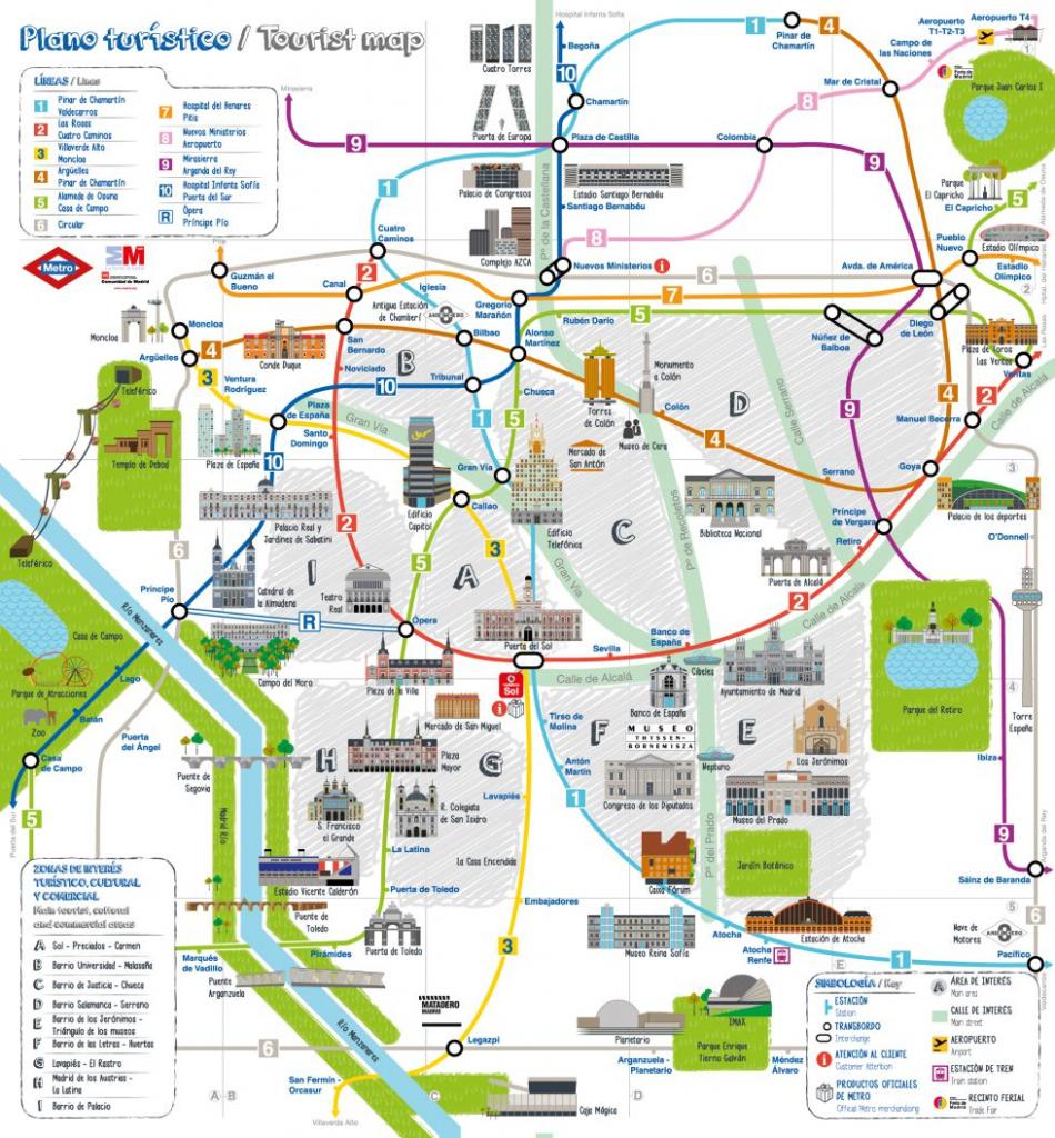 Madrid Attractions Map Pdf - Free Printable Tourist Map Madrid for Madrid City Map Printable