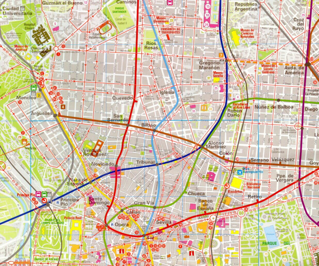 Madrid Map - Detailed City And Metro Maps Of Madrid For Download within Madrid City Map Printable