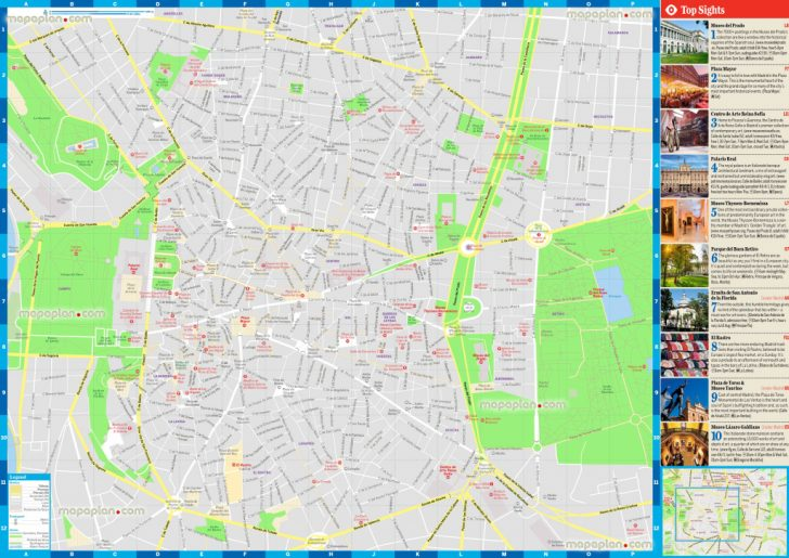 Printable Map Of Madrid