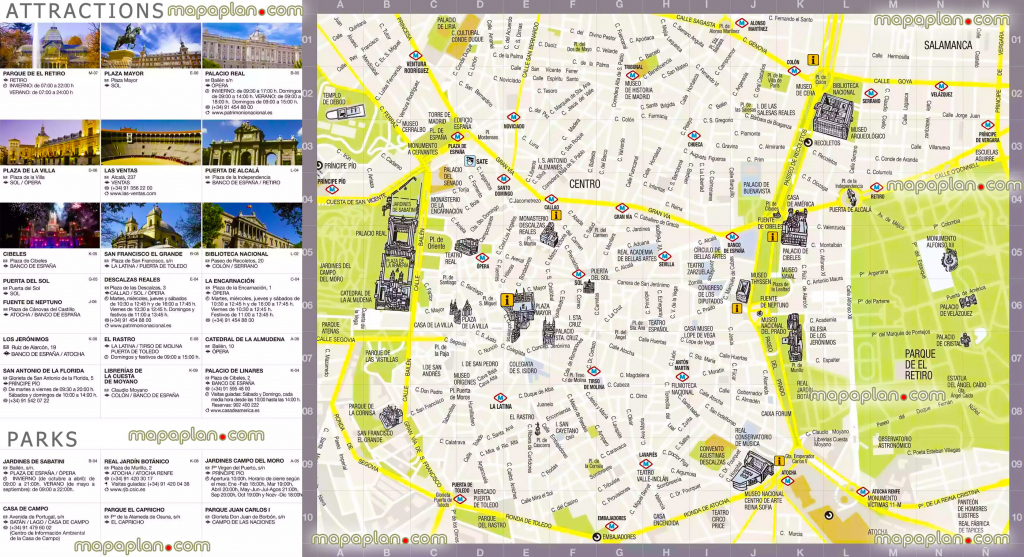 Madrid Maps - Top Tourist Attractions - Free, Printable City Street intended for Printable Map Of Madrid