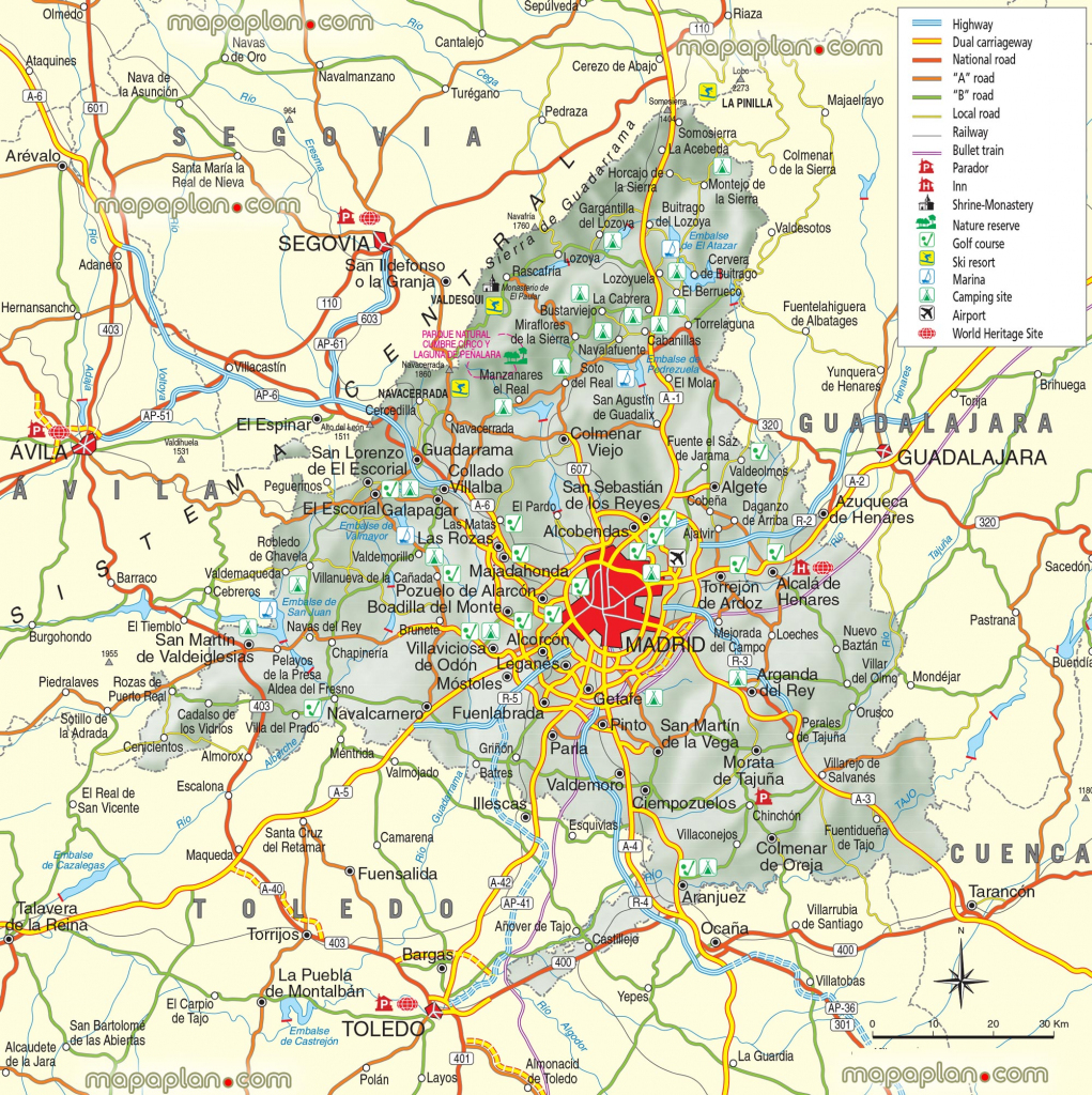 Madrid Maps - Top Tourist Attractions - Free, Printable City Street pertaining to Madrid City Map Printable