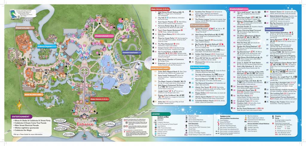 Magic Kingdom Disney World Map - World Wide Maps pertaining to Disney World Map 2017 Printable