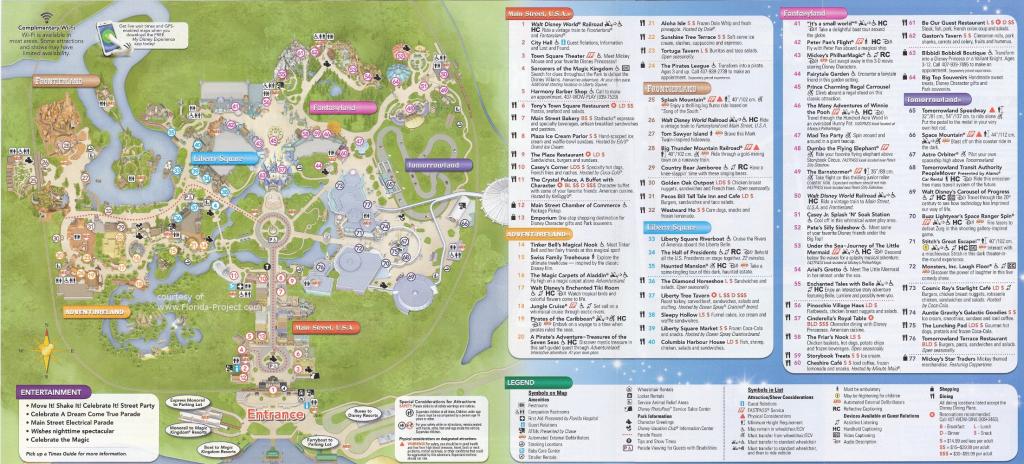 Magic Kingdom Guidemaps regarding Printable Magic Kingdom Map