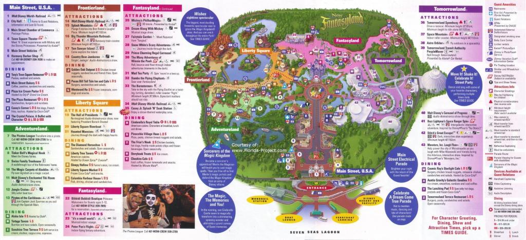 Magic Kingdom Guidemaps with regard to Printable Maps Of Disney World Theme Parks