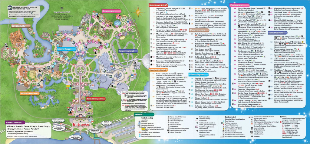 Magic Kingdom Park Map - Walt Disney World | Disney World In 2019 for Printable Disney Park Maps