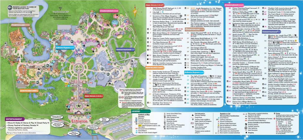 Magic Kingdom Park Map - Walt Disney World | Disney World In 2019 throughout Printable Magic Kingdom Map