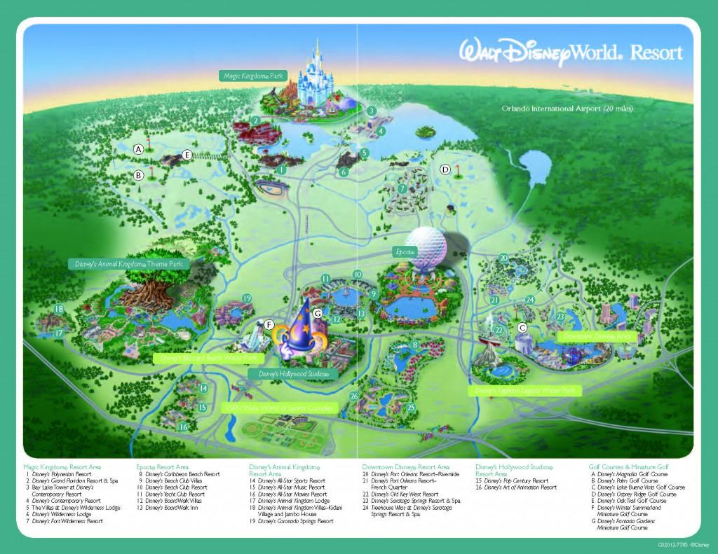 Magic Kingdom Park Map - Walt Disney World - Printable Disney World in Printable Magic Kingdom Map 2017