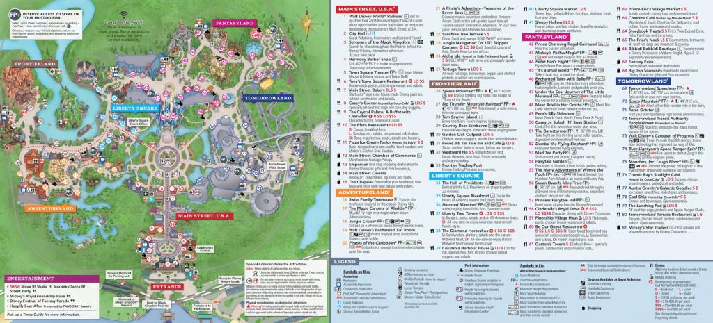 Magic Kingdom Park Map - Walt Disney World - Printable Disney World with Printable Disney Maps