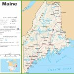 Maine Highway Map With Regard To Maine State Map Printable