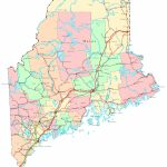 Maine Printable Map for Maine State Map Printable