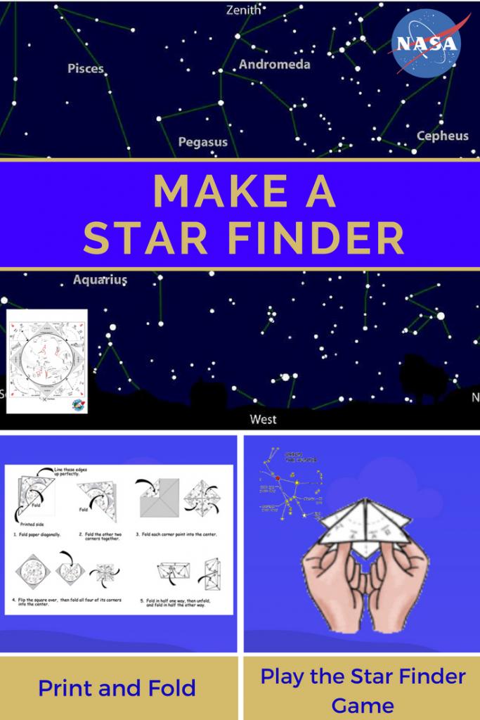 "Make A Star Finder -- Fold A Printable Sky Map Like A Paper ""fortune within Printable Star Map"