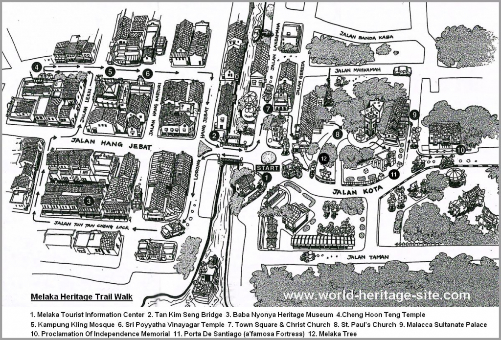 Malaysia Tourism & Travel Guide » Tourist Map :: Melaka @ Malacca regarding Melaka Tourist Map Printable
