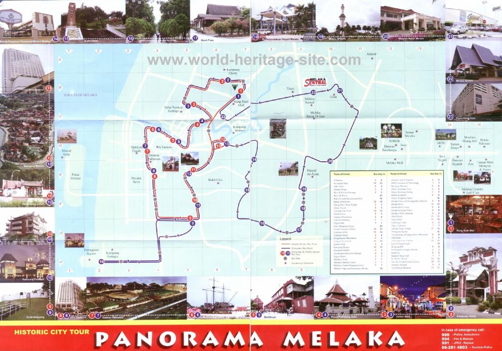 Malaysia Tourism & Travel Guide » Tourist Map :: Melaka @ Malacca with Melaka Tourist Map Printable