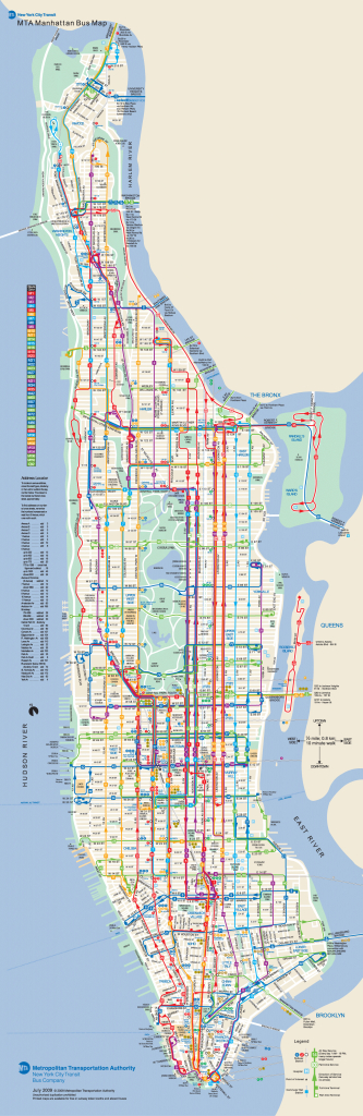 Manhattan Bus Map | New York Metropolitan Area | Bus Map, Map, Map with Printable Manhattan Bus Map