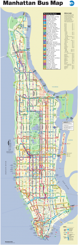 Manhattan Bus Map pertaining to Printable Manhattan Bus Map