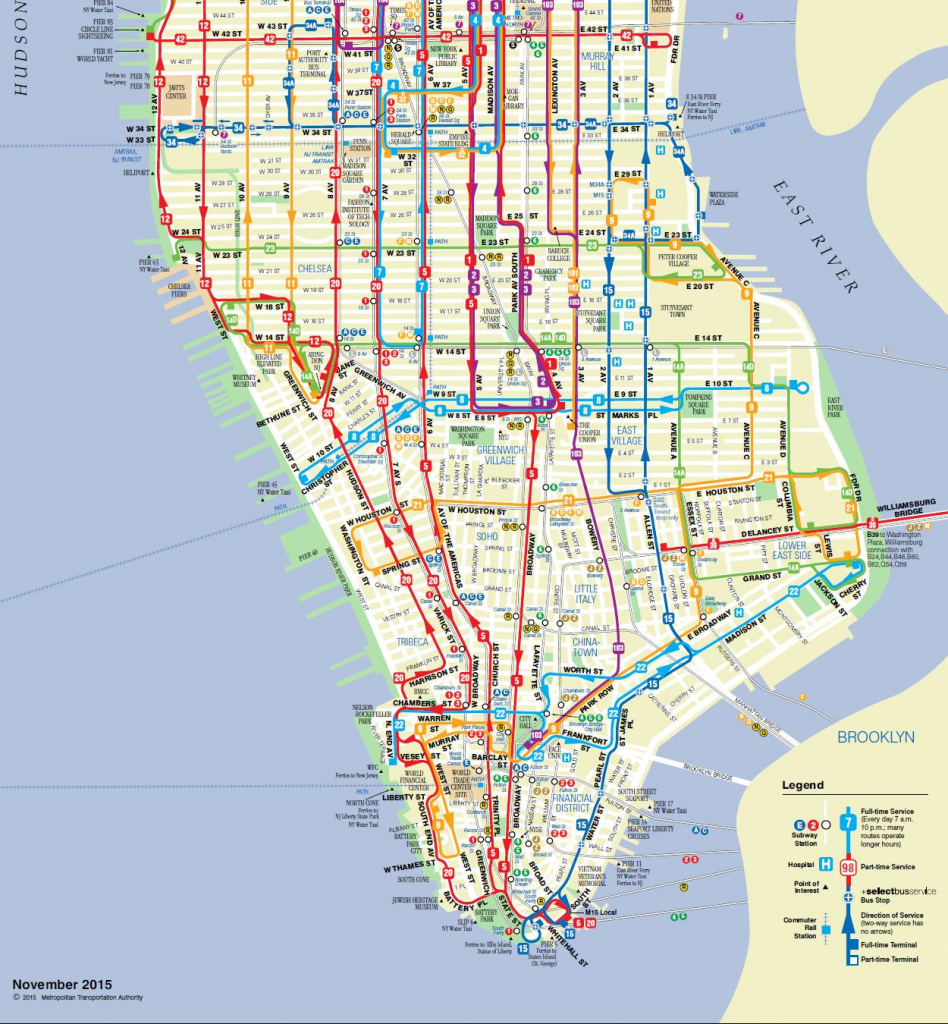 Manhattan On A Map And Travel Information | Download Free Manhattan inside Printable Manhattan Bus Map