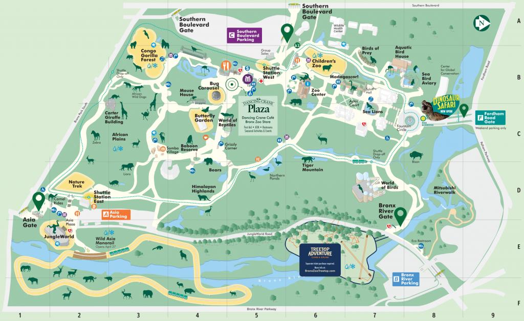 Map - Bronx Zoo inside Bronx Zoo Map Printable