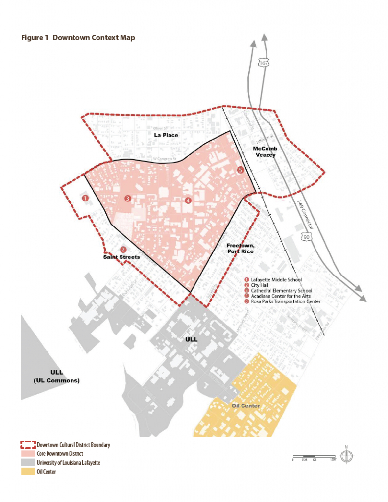 Map | Downtown Development Authority | Lafayette, La regarding Printable Map Of Lafayette La