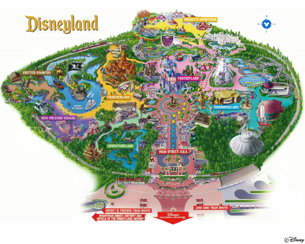 Map High-Quality Disneyland California Park Map - Klipy regarding Printable Disneyland Map 2014