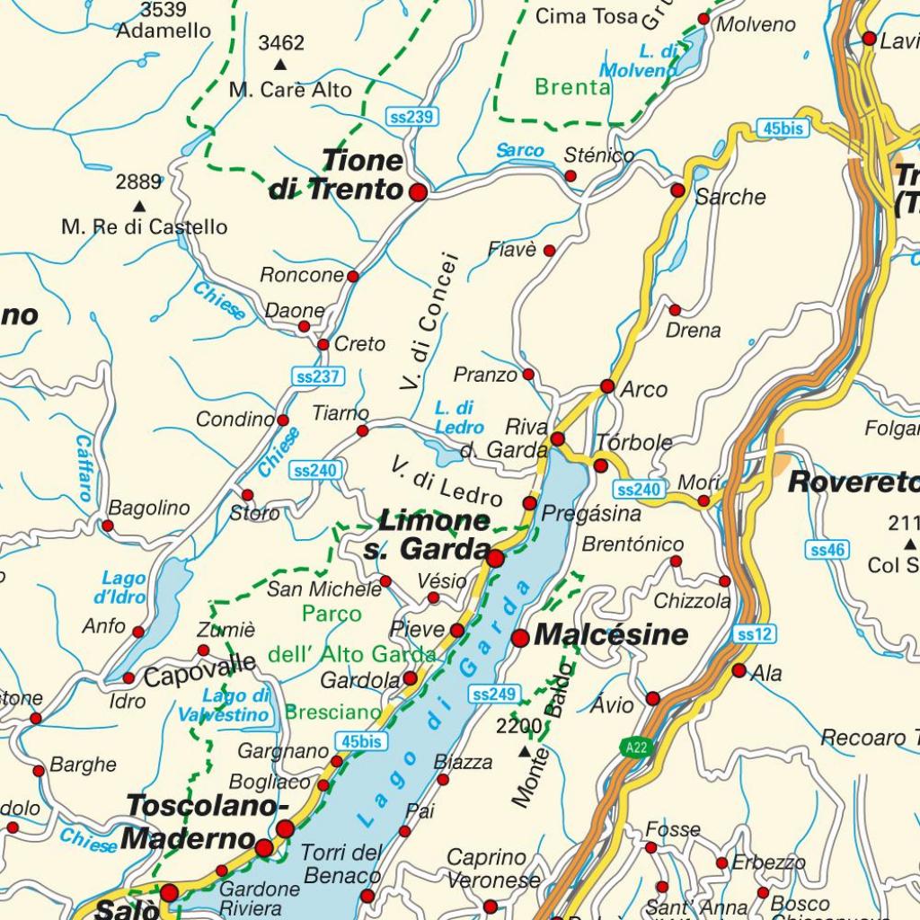 Map Lake Garda, Italy. Maps And Directions At Hot-Map. throughout Printable Map Of Lake Garda