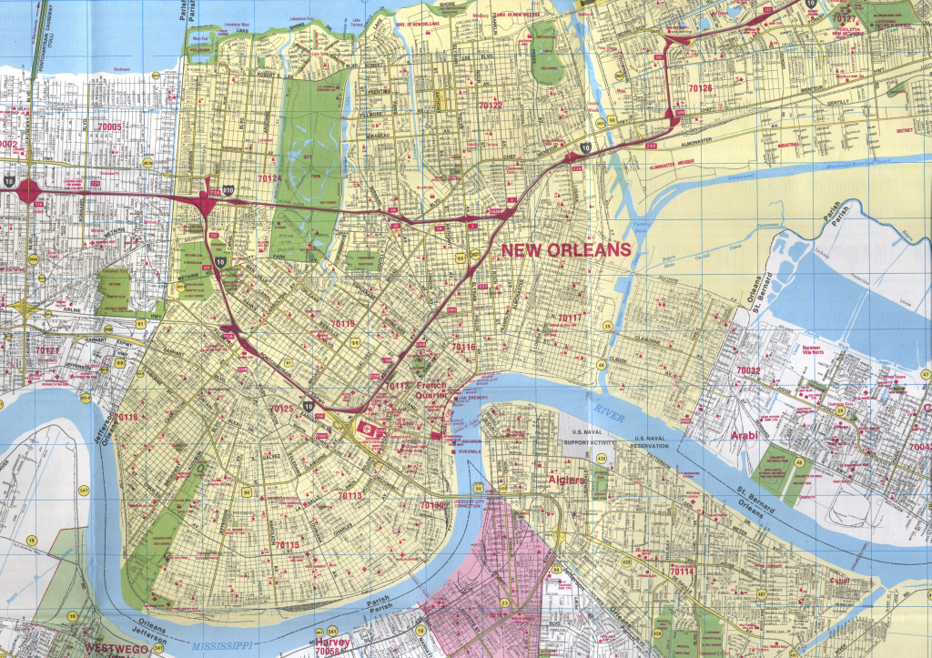 Map New Orleans   Afputra throughout Printable Map Of New Orleans