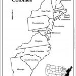 Map Of 13 Colonies Blank Maps The Thirteen And Labeled Printable Pertaining To 13 Colonies Blank Map Printable