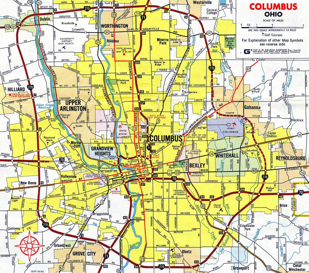 Map Of 270 Columbus Ohio - 270 Columbus Ohio Map (Ohio - Usa) pertaining to Printable Map Of Columbus Ohio