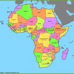 Map Of Africa With Countries And Capitals Intended For World Map With Capital Cities Printable