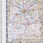 Map Of Alabama With Cities And Towns Pertaining To Printable Alabama Road Map