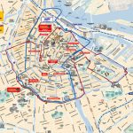 Map Of Amsterdam Tourist Attractions, Sightseeing & Tourist Tour With Amsterdam Street Map Printable