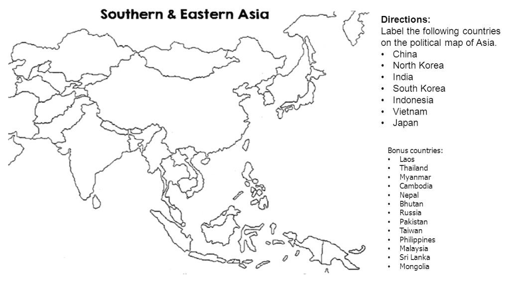 Map Of Asia Blank And Travel Information | Download Free Map Of Asia intended for Asia Outline Map Printable