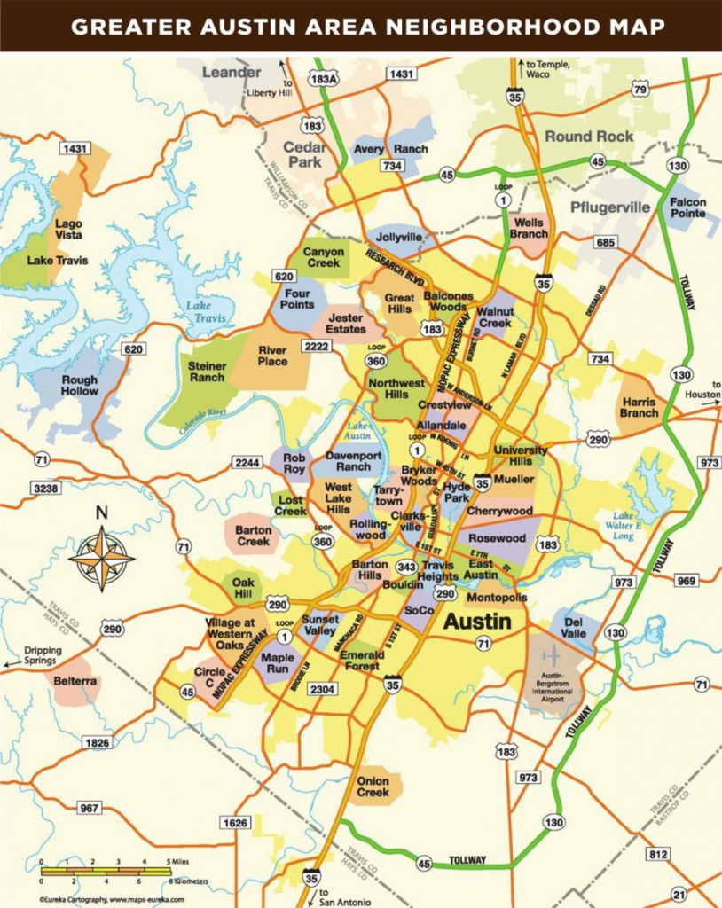 Map Of Austin Texas Area - Map Of Austin Tx Area (Texas - Usa) with Printable Map Of Austin Tx