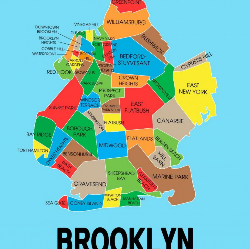 Map Of Brooklyn Ny - Brooklyn New York On Map (New York - Usa) with regard to Printable Map Of Brooklyn