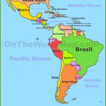 Map Of Central And South America regarding Printable Map Of South America With Countries