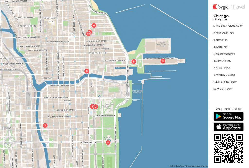 Map Of Chicago Printable Tourist 87318 Png Filetype | D1Softball within Map Of Chicago Attractions Printable