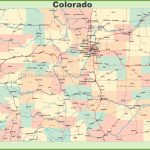 Map Of Colorado With Cities And Towns Within Printable Map Of Colorado Cities
